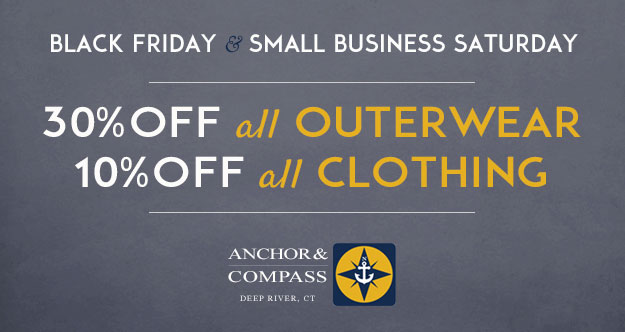 Anchor & Compass Black Friday Sale