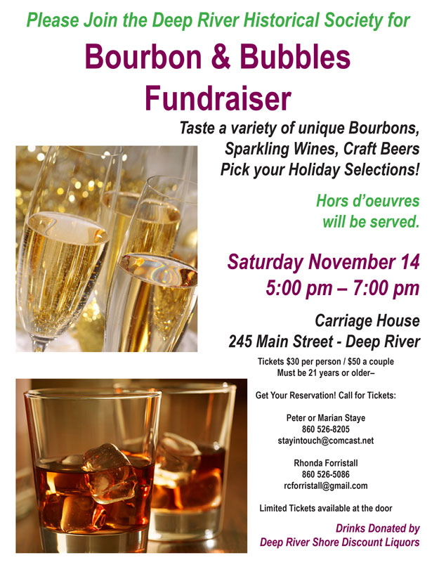 Deep River Historical Society - Bourbon & Bubbles Fundraiser